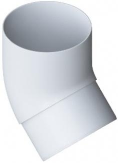 Колено трубы 45° ПВХ, Элит (цвет белый)