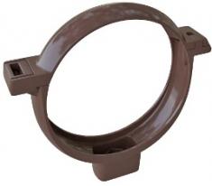 Хомут трубы ПВХ Элит (цвет коричневый)